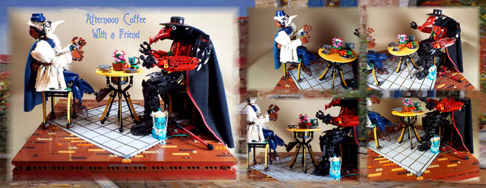 Bionicle MOC: Afternoon Coffee With a Friend