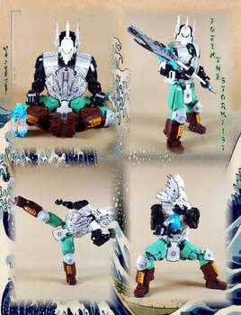 Bionicle MOC: Fujin, the Stormfist(action)