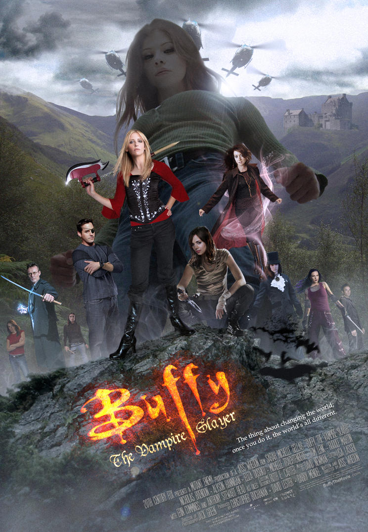 Buffy Movie- Theatrical Poster by themadbutcher