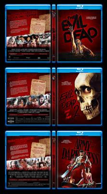 Evil Dead Trilogy Custom Blu-ray Covers
