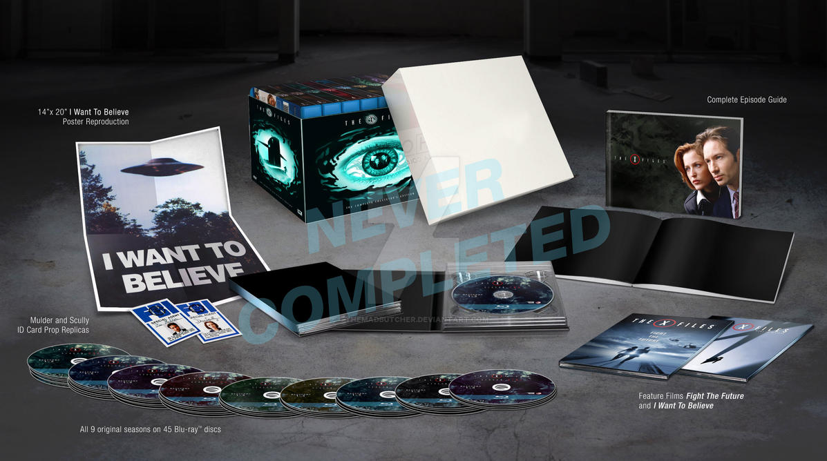 Abandoned X-Files Blu-ray Mock-up by themadbutcher