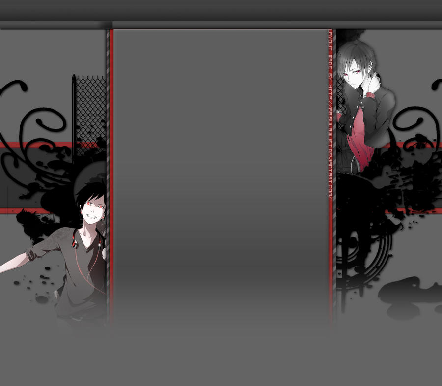Free Izaya 3.0 Cosmic Panda YouTube Layout by ArisuLawliet