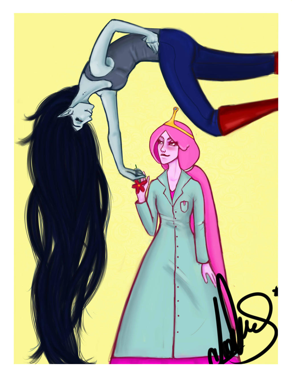 Pb And Marceline by candiass on DeviantArt