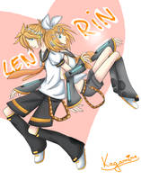 Kagamine Twins by 3Peoples