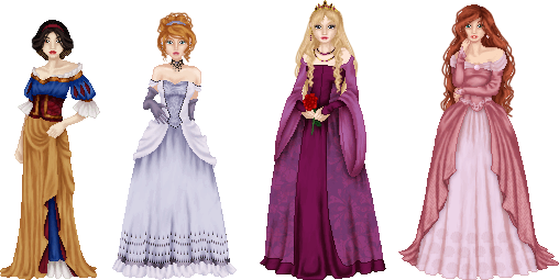 Disney Princesses, part 1 by LadyAraissa
