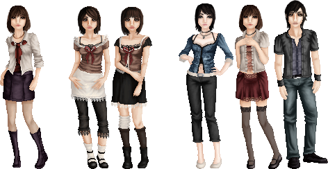 Fatal Frame Characters by LadyAraissa