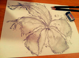 Aqua Flower by lolitartheist