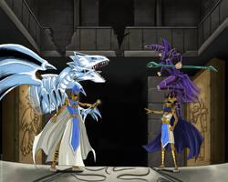 Yu-Gi-Oh!: Atem vs Seto by FullmetalStella
