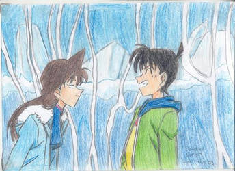 Ran and Shinichi by FullmetalStella