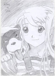 Winry and Den by FullmetalStella
