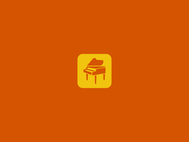 Piano Icon By Artworkbean by artworkbean