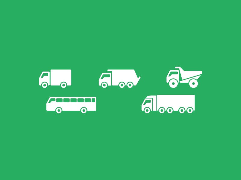 Big Truck Icon Set By Artworkbean by artworkbean
