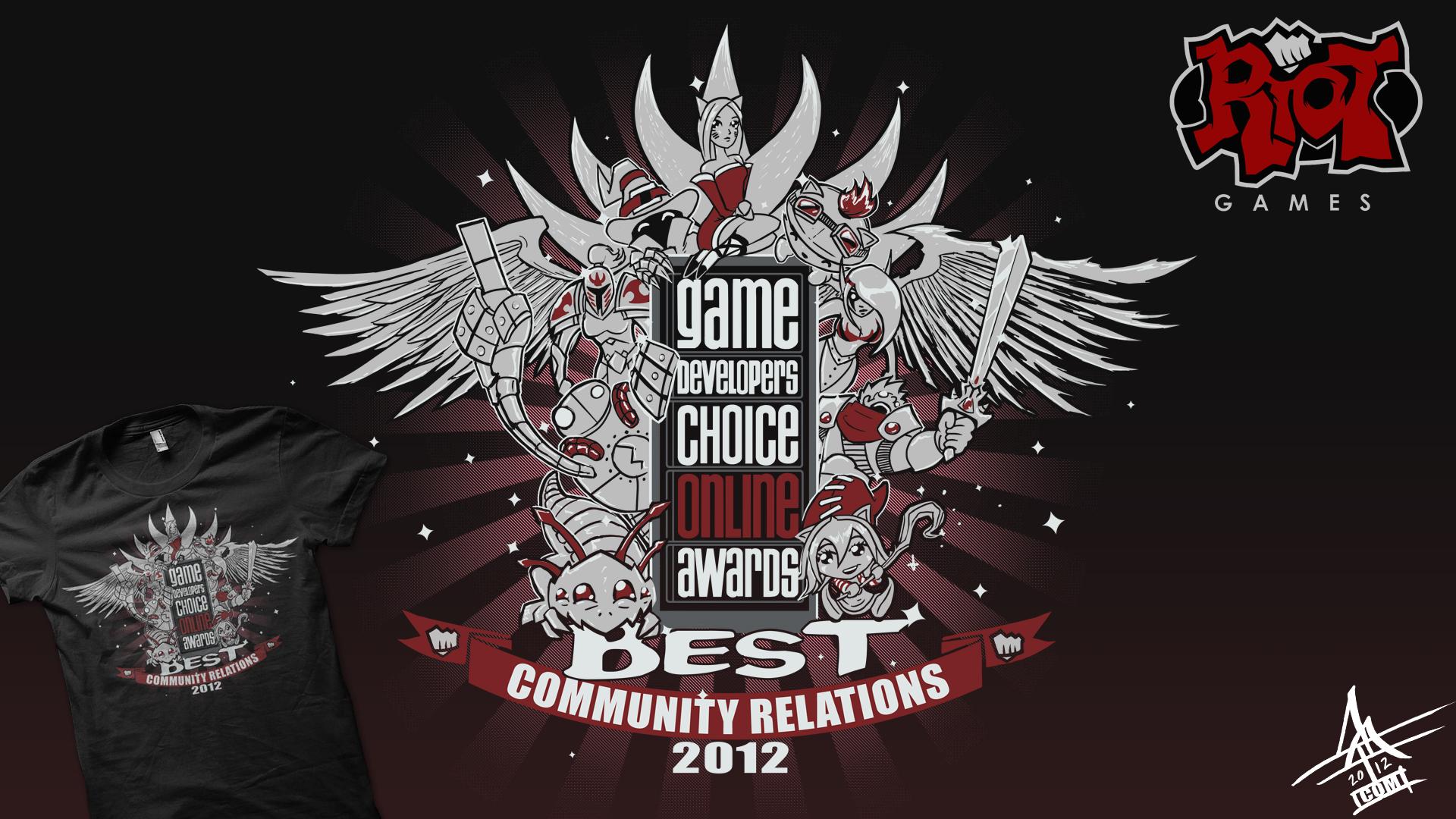Riot games gdc staff shirt by mattcomgo on deviantart