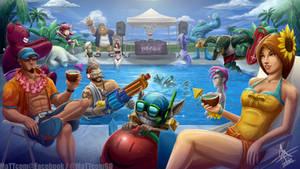 League of Legends Pool Party 2013