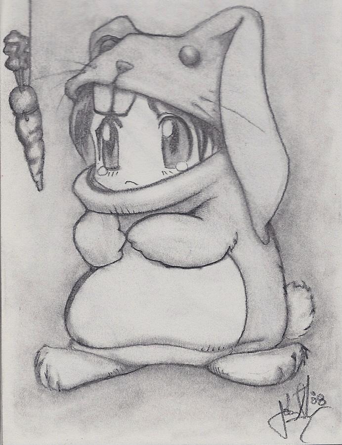 Cute Pencil Drawings Of Cute Things Cute bunny suit by jjshaver