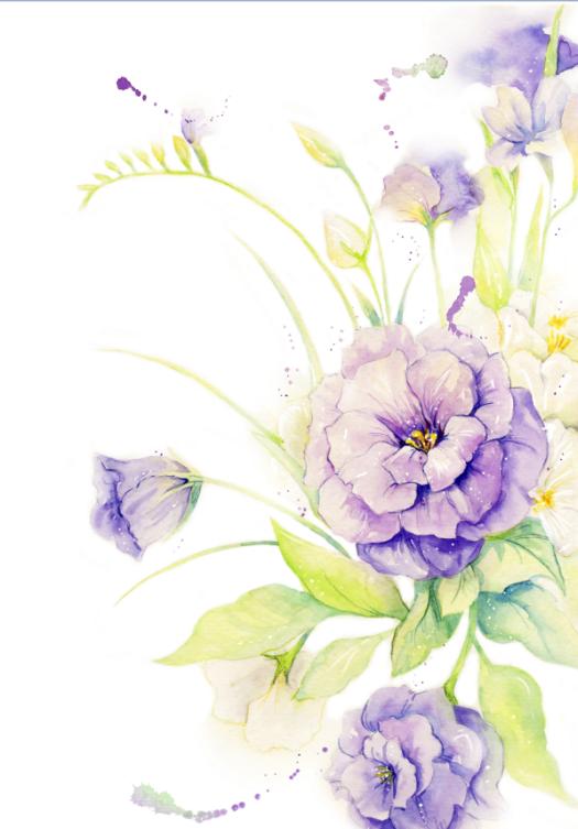 purple and blue wallpaper border