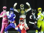 Mighty Morphin Power Rangers cosplay group