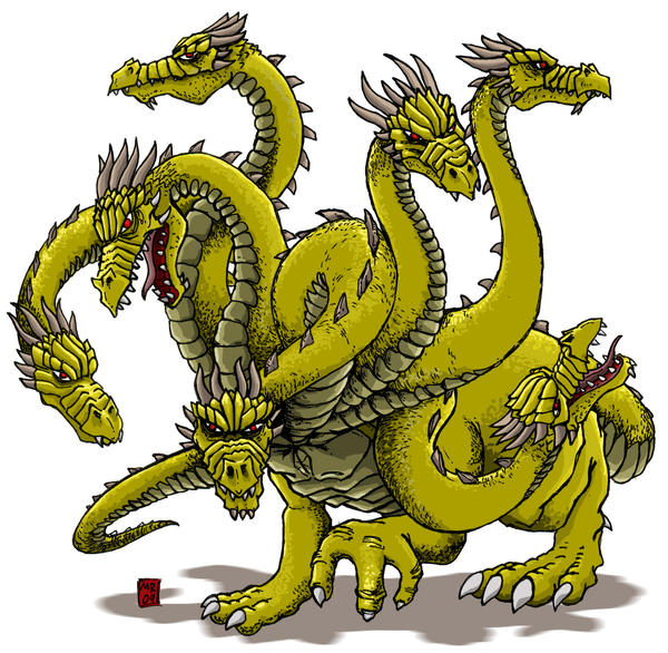 The Hydra by hawanja on DeviantArt Greek Mythology Hydra