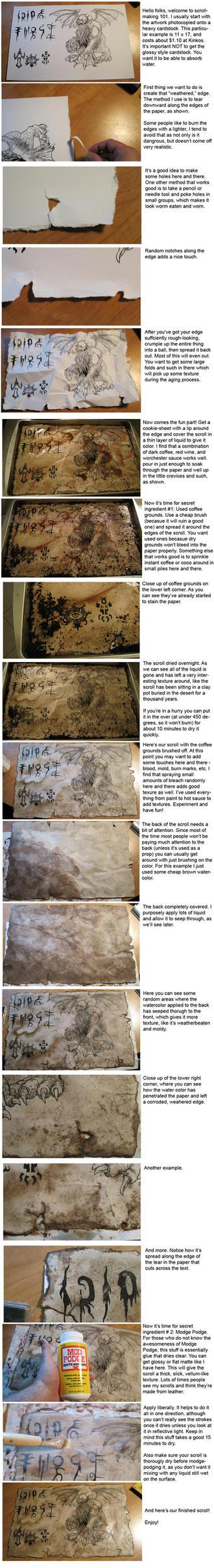 Scroll making Tutorial by hawanja