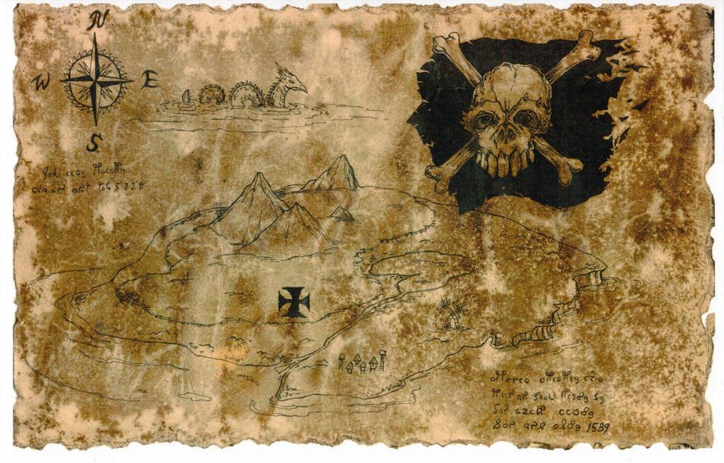 Pirate Map by hawanja