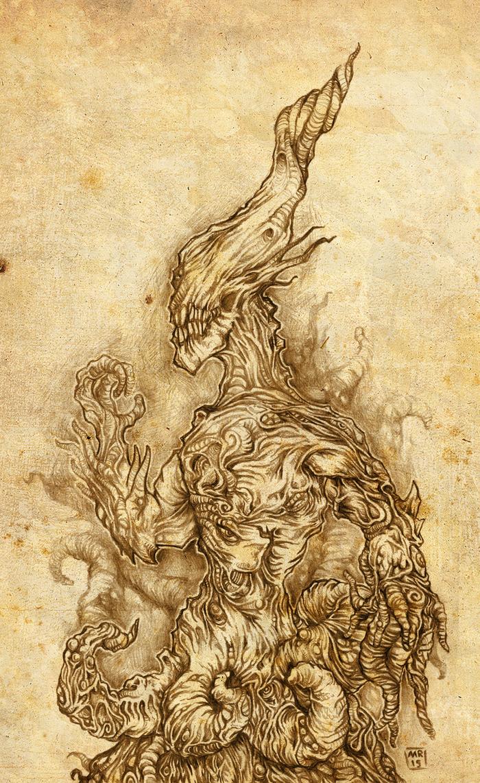 Nyarlathotep, collector of souls by hawanja