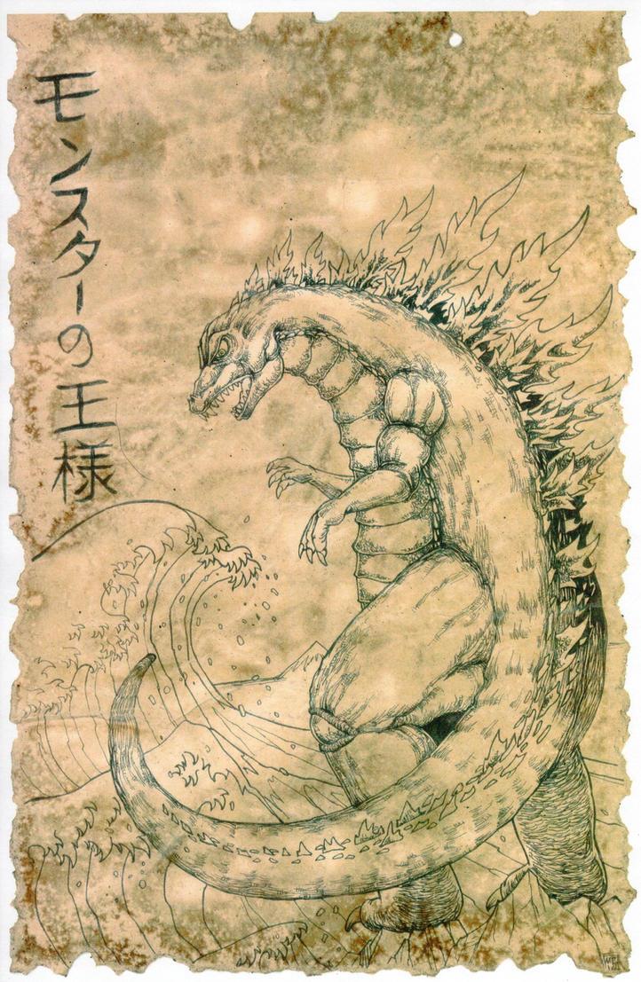 Godzilla Scroll by hawanja