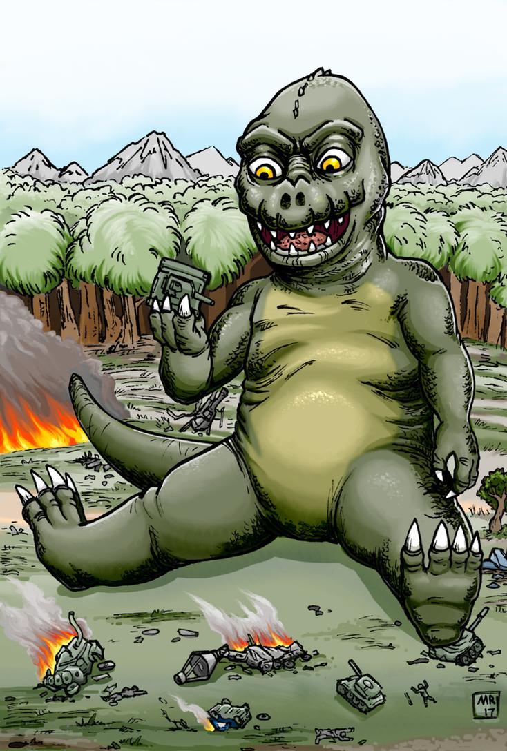 Minya, Son of Godzilla by hawanja