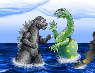 Godzilla vs Nessie