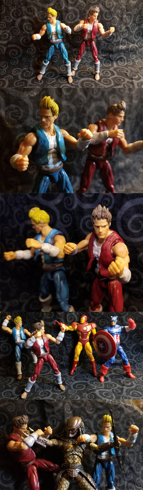 Double Dragon - Billy and Jimmy custom figures by hawanja