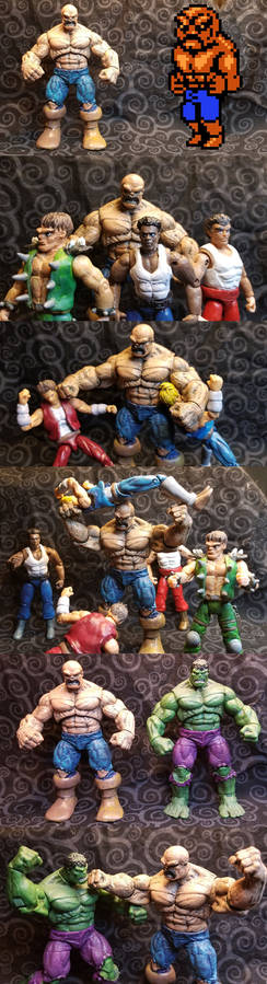 Double Dragon - Abobo 3.75 inch custom figure