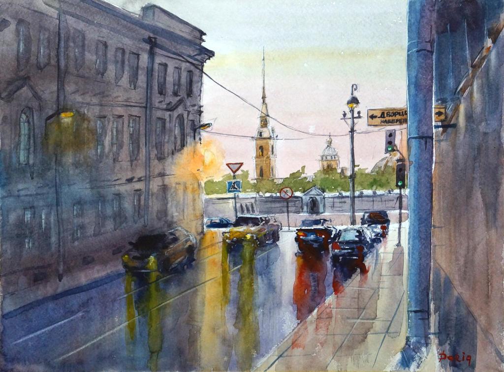 Rainy St.Petersburg by DariaGALLERY