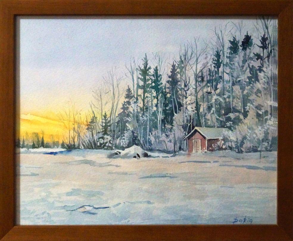 winter sundown by DariaGALLERY