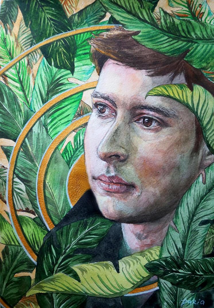 palm leafs portrait by DariaGALLERY