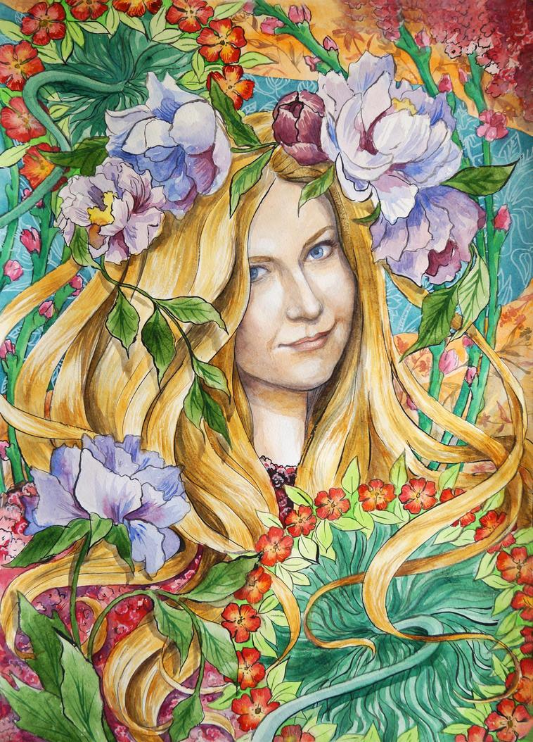 twinkle twinkle lil flower by DariaGALLERY