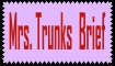 Mrs. Trunks Brief Stamp by Swamnanthas