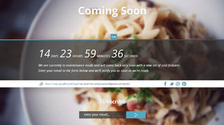 Genta - Responsive Fullscreen Coming Soon Page by AZMIND