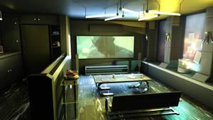 cyberpunk style interior