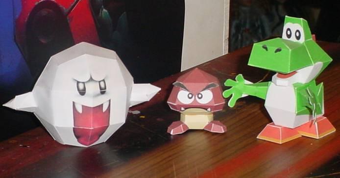 Nintendo Papercraft by paperart