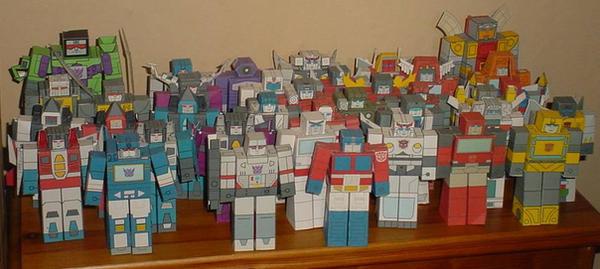 Transformers Hako Clones by paperart