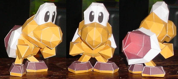 Koopa Troopa 'Red' by paperart