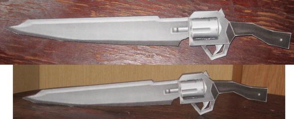 Gunblade papercraft by paperart