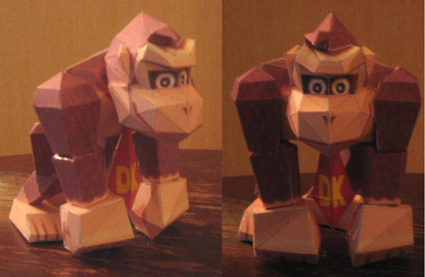 Donkey Kong by paperart