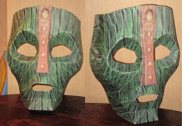 The Mask: Loki Mask by paperart