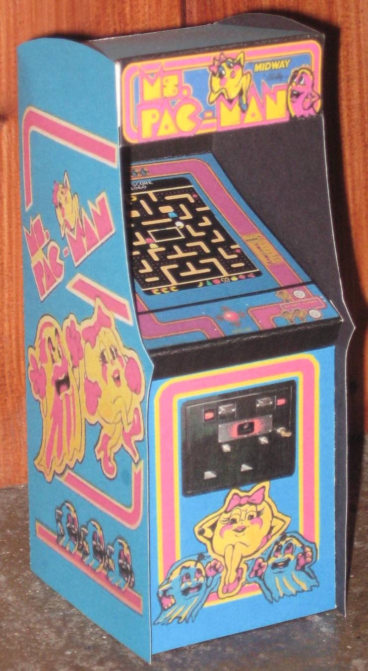 Ms Pacman Arcade Cabinet By Paperart On Deviantart