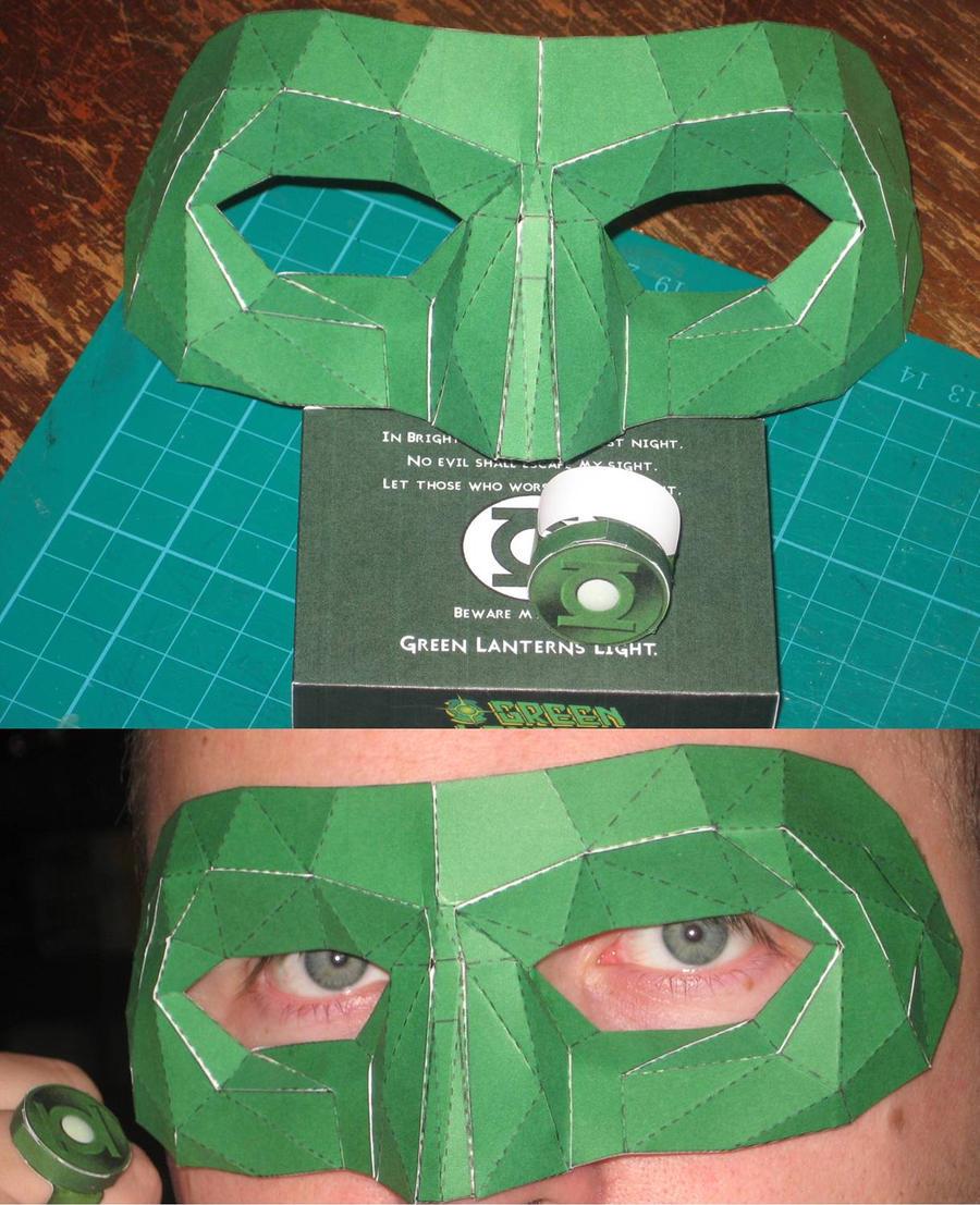 cyclops mask template - green lantern mask by paperart on deviantart