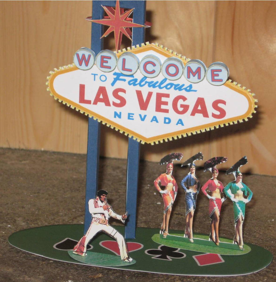 Las vegas sign papercraft by paperart on deviantart for Las vegas craft shows