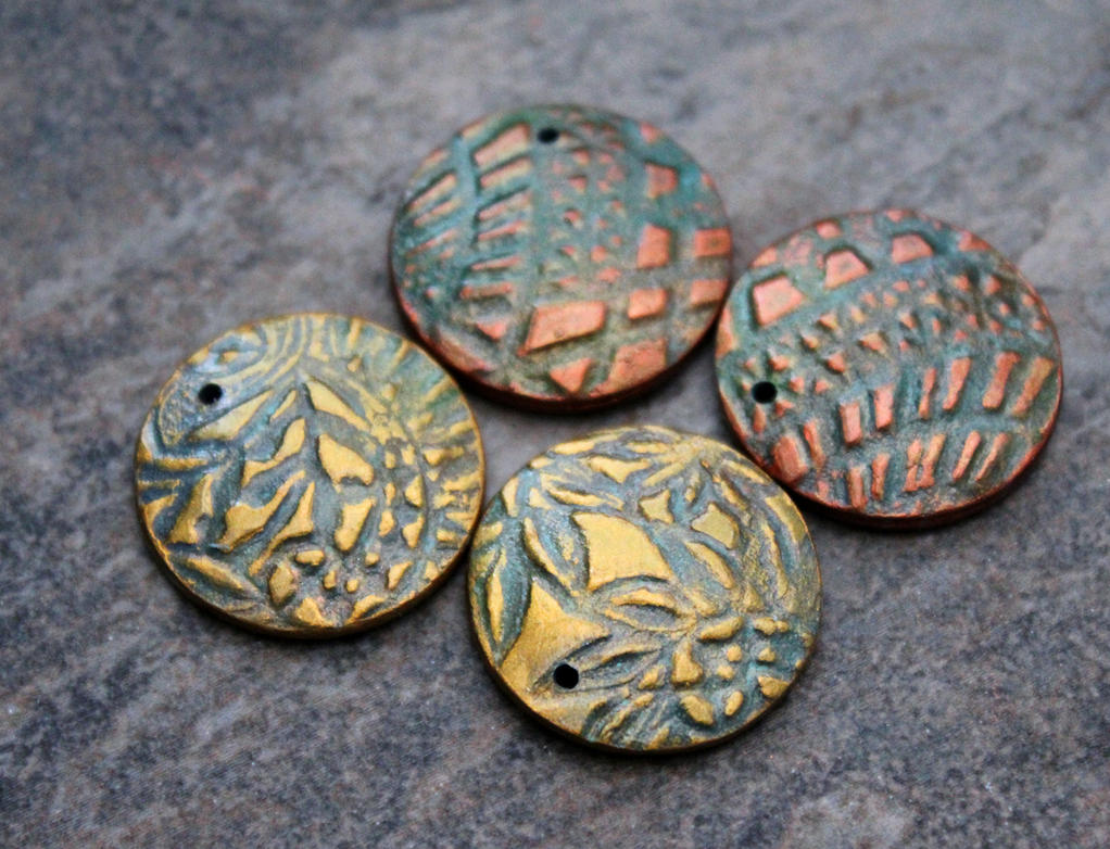 Polymer clay jewelry components by earthexpressions on deviantart