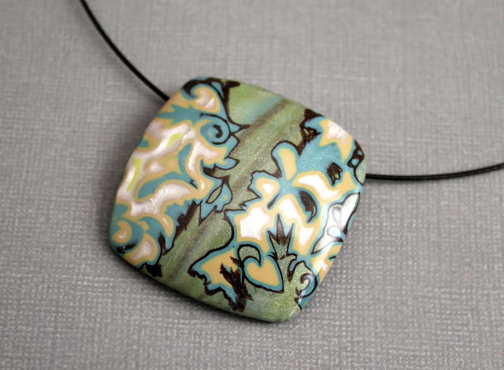 polymer clay handmade jewelry modern botanical by