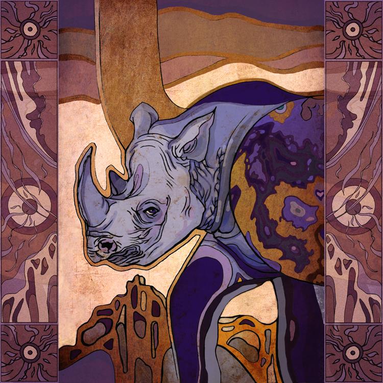 Purple Rhino by yanadhyana