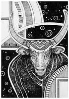 Space Bull by yanadhyana